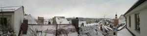 Der Ausblick von der Dachterasse - kann man nicht klagen, würd ich sagen