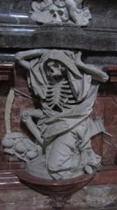 Im innern der Basilika St. Emmeran - Der Tod