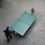 Tischtennis im Vorhof