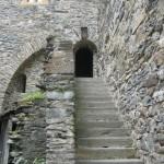 Treppe vom Burghof Richtung Speisesaal
