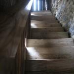 Treppe vom Wehrgang Richtung Jägerzimmer