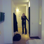 Hotel Goliath Flur mit Nina